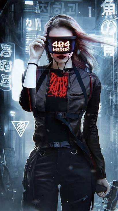 Cyberpunk Aesthetic Hacker Anime Neon Phone 2077