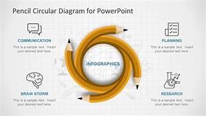 Pencil Circular Powerpoint Diagram