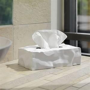 Boite A Mouchoir Original : bo te mouchoirs wipy rectangulaire blanc essey made in design ~ Melissatoandfro.com Idées de Décoration