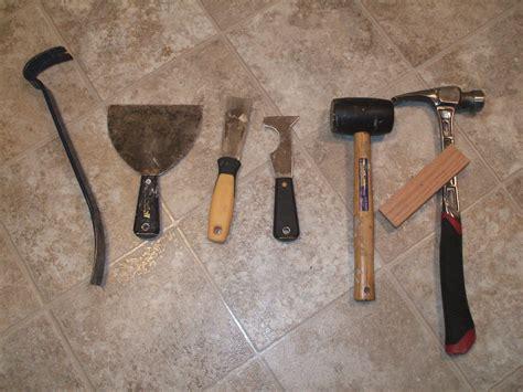 Tools     Remove Vinyl Floor