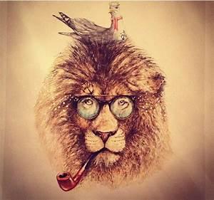 Hipster Lion by JensLa.deviantart.com on @DeviantArt | Ink ...
