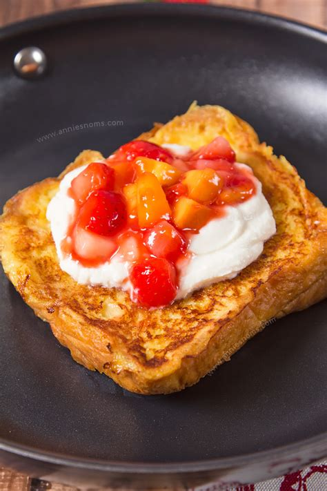 Strawberry Peach Stuffed French Toast Annie Noms