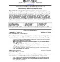 resume format marketing professional resume and cv sles resume writing service