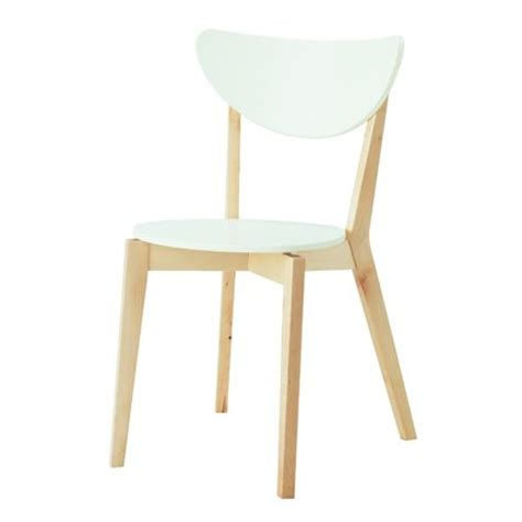 chaise blanche de cuisine chaise nordmyra ikea maison