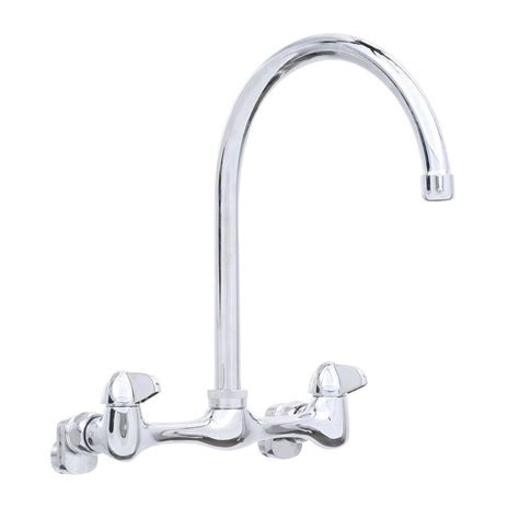 glacier kitchen faucet glacier bay 2 handle wall mount high arc kitchen faucet in