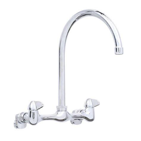 glacier bay kitchen faucet reviews glacier bay 2 handle wall mount high arc kitchen faucet in