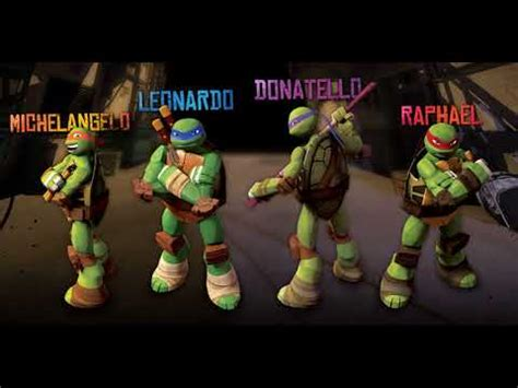 colors of the turtles names of mutant turtles with color of