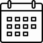 Calendar Icon Svg Schedule Waste Division Solid