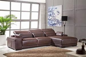 Light brown full genuine italian leather modern sectional sofa for Genuine italian leather sectional sofa