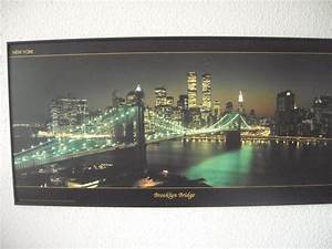 Led Bild New York : new york brooklyn bridge zwillingst rme led wandbild in ~ Pilothousefishingboats.com Haus und Dekorationen
