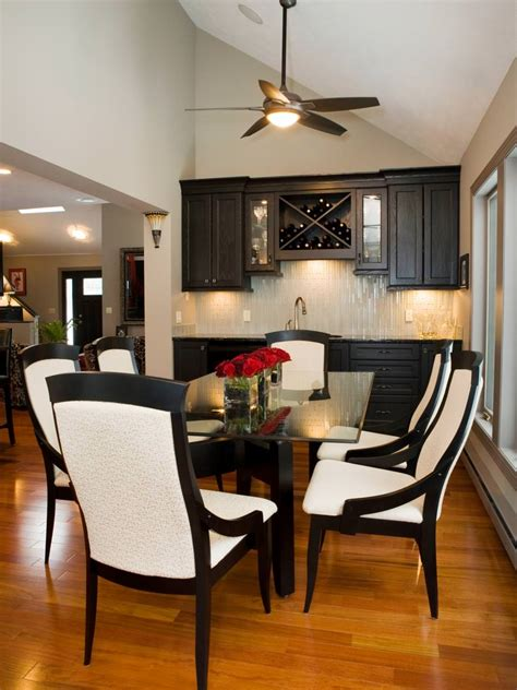 black  white dining room designs dining room