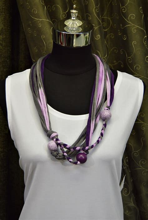 royal purple  shirt yarn necklace favecraftscom