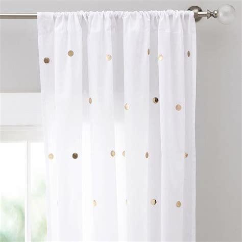 nate berkus metallic gold and curtain panel