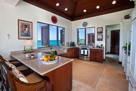 Carribean Kitchen serene caribbean rental villa