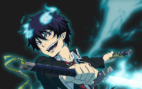 Download wallpapers Rin Okumura 4k manga Blue Exorcist