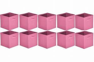 Lot D Assiette Pas Cher : lot de 10 paniers tiroir tissu vieux rose bac de rangement pas cher ~ Melissatoandfro.com Idées de Décoration