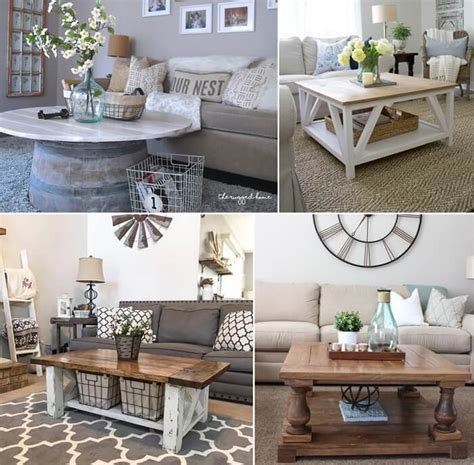 Looking for a coffee table that fits your style and your budget? 25 Charming DIY Farmhouse Coffee Table Designs