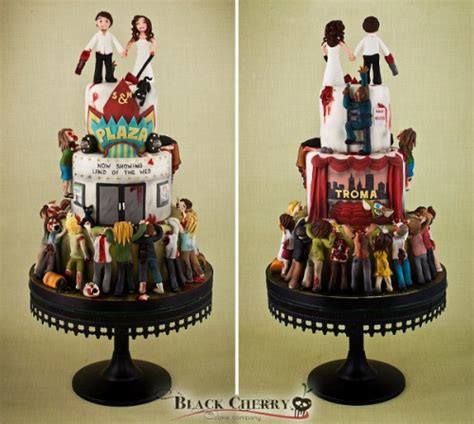 geek art gallery sweets apocalypse wedding cake