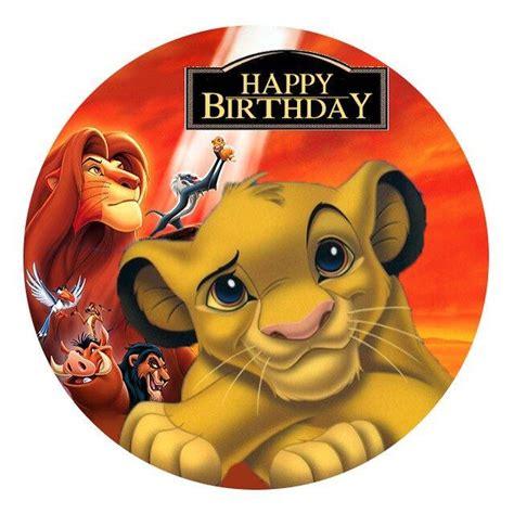 lion king edible image real icing personalised cake