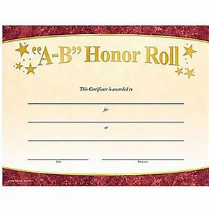 10 best images of honor roll certificates free printable With a b honor roll certificate template