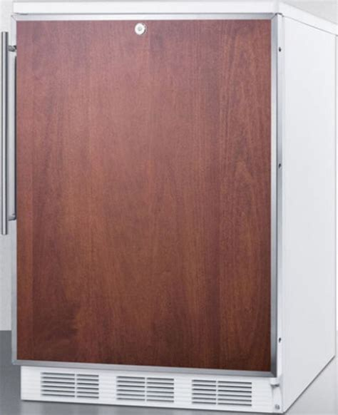 refrigerators that accept cabinet panels summit ct66lbifrada ada compliant built in refrigerator