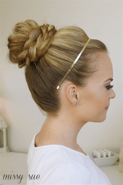 braid wrapped high bun