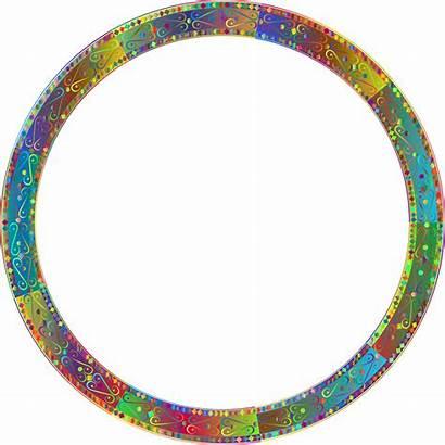 Round Transparent Frame Border Circle Decorative Background