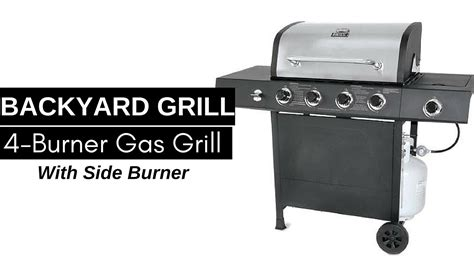 backyard grill 4 burner gas grill backyard grill 4 burner gas grill with side burner