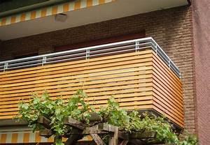 Balkon Dielen Holz : balkon aus holz und edelstahl ~ Michelbontemps.com Haus und Dekorationen