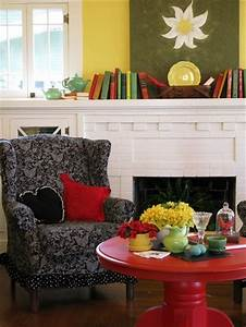 Colorful Cottage Decorating Ideas in red,yellow,blue,black
