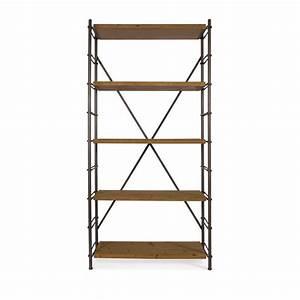 Etagere Style Industrielle : etag re industrielle m tal et bois ironwood par ~ Teatrodelosmanantiales.com Idées de Décoration