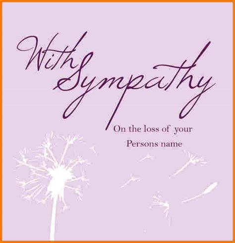 sympathy card template authorization letter