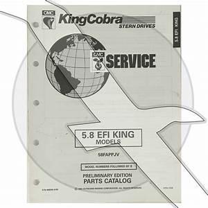 1993 Omc King Cobra 5 8l 351 Efi Engine  U0026 Sterndrive Parts Diagram Catalog