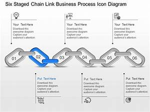 Six Staged Chain Link Business Process Icon Diagram