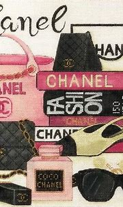 Chanel Collage   Plastic canvas crafts, Collage, Chanel
