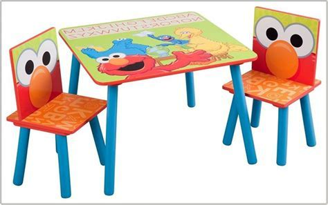 123 Elmo Table And Chairs Set   Chairs : Home Decorating
