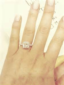 Princess Cut with Halo Engagement Ring