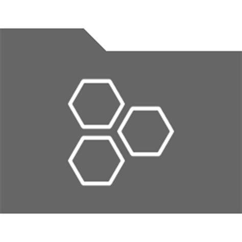 Hex Grid Icon  Di Black Folder Icons Softiconscom