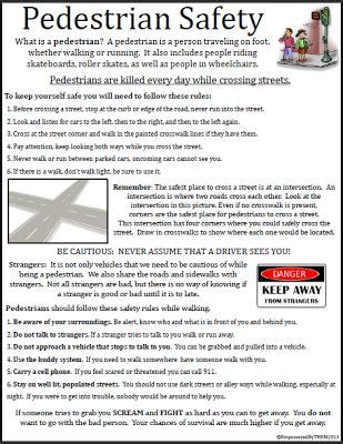 life skills worksheet pedestrian safety special