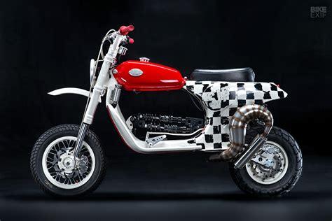 custom of the week vespa px 150 by butchered garage motofire