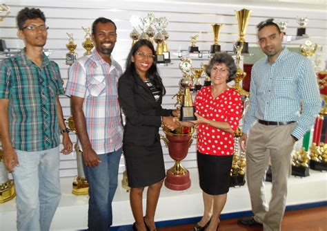 woodpecker products contributes trophies   gssf guyana sport shooting foundation