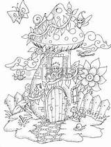 Coloring Yeti Visit Printable Fairy Adult sketch template