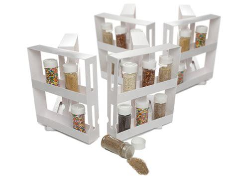 as seen on tv spice rack swivel deluxe 4pk w spice bottles