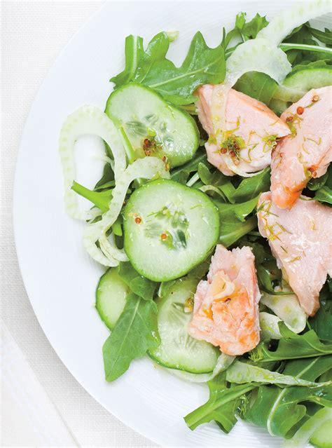 recette salade de saumon froid concombre  fenouil