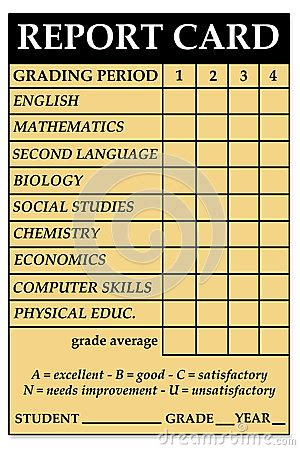 high school report card stock photography image
