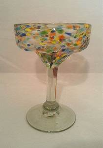 Multi Speckled Mexican Margarita Glass