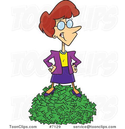 Rich Woman Cartoon