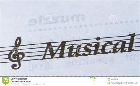 This printable music paper (also known as manuscript paper or music staff paper) is available with various number of staves per page, in both page orientations, and in four paper sizes (legal, letter, ledger, and a4). Word Musical on paper stock image. Image of staff, stave - 56219579