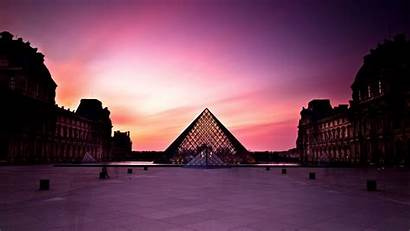 Louvre Sunset Sky Museum Purple During Travel