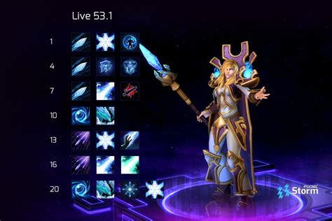Find the best characters to use here. Jaina | Talent Calculator Psionic Storm - Heroes of the Storm